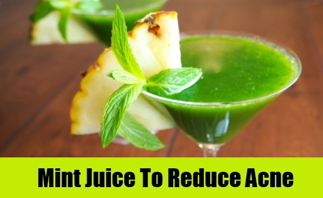 Mint Juice To Reduce Acne