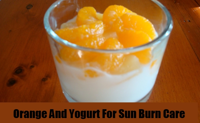 Orange And Yogurt For Sun Burn Care