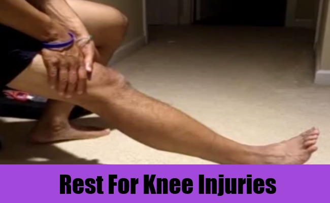 Rest For Knee Injuries