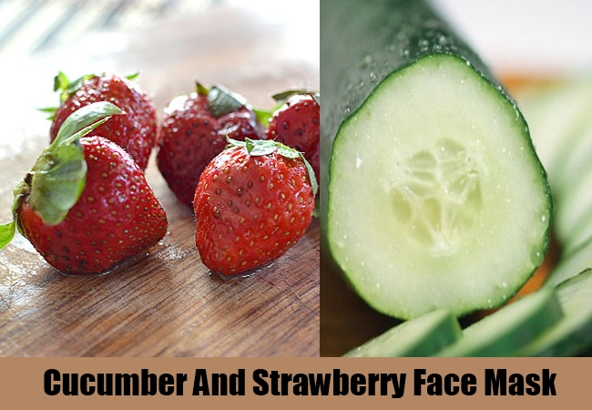 Cucumber And Strawberry Face Mask