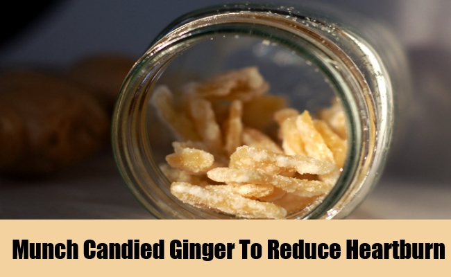 Munch Candied Ginger To Reduce Heartburn