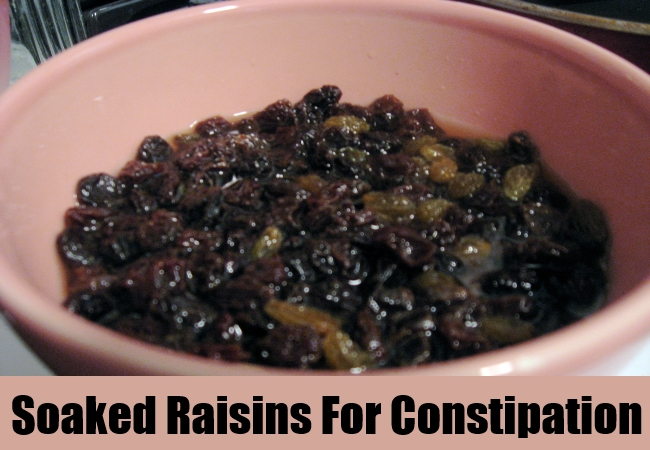 Soaked Raisins For Constipation