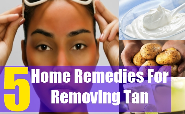 5 Home Remedies For Removing Tan