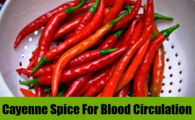 Cayenne Spice For Blood Circulation