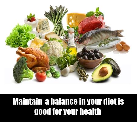 Eat a balanced diet