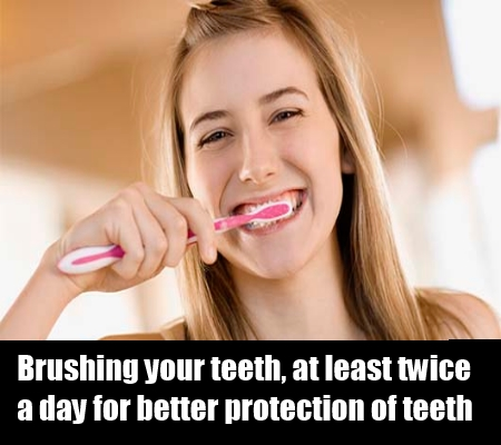 Avoid Plaque by brushing and flossing