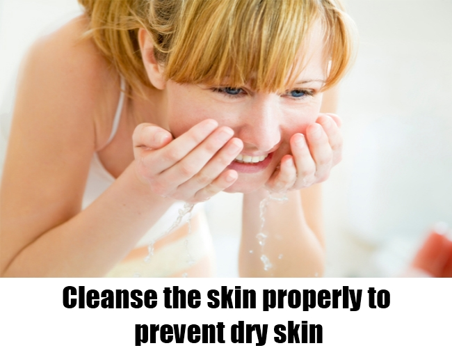 Cleanse the skin