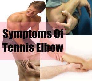 Symptoms Of Tennis Elbow