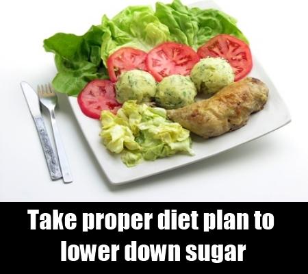 Take proper diet plan