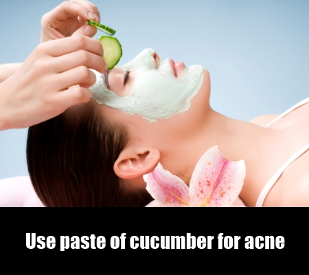 Use paste for cucumber for acne