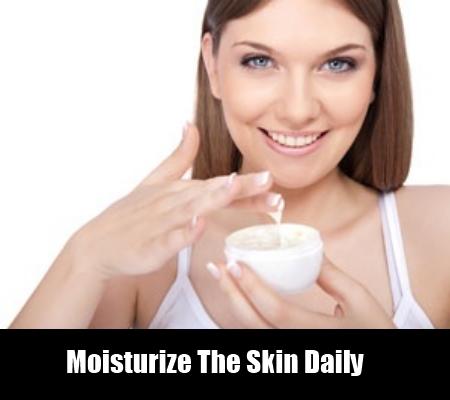 Moisturize The Skin
