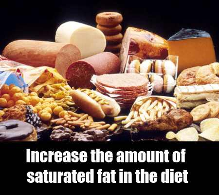 Increase the amount of saturated fat