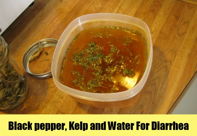 Black pepper, Kelp and Water