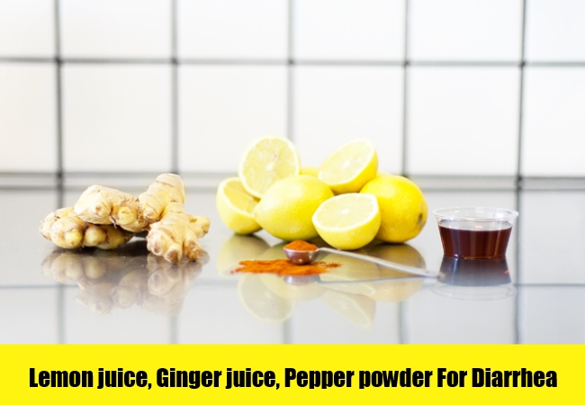 Lemon juice, Ginger juice, Pepper powder