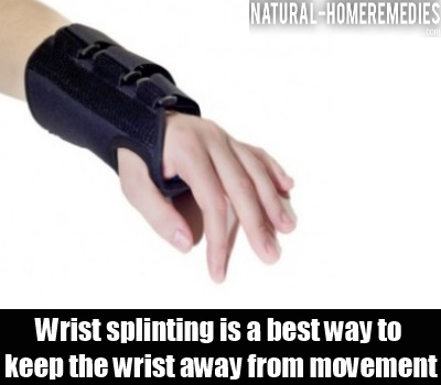 wrist splinting