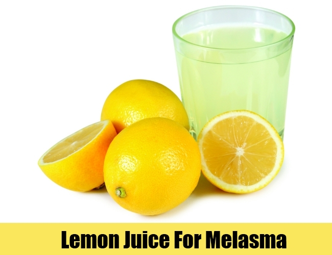 Lemon Juice To Cure Melasma