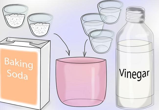 Brown Vinegar or Baking Powder
