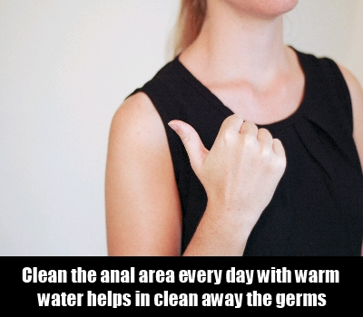 Keeping the Anal Area Clean
