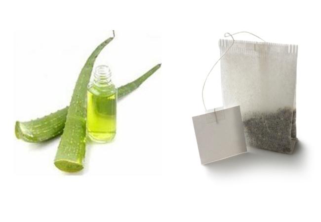 Aloe Vera And Tea Bag