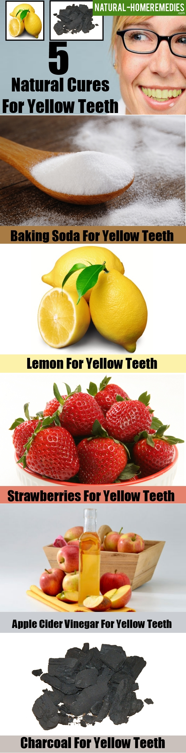 5 Natural Cures For Yellow Teeth