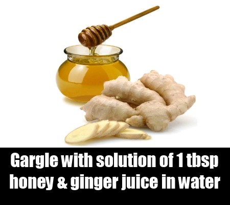 Ginger Juice And Honey