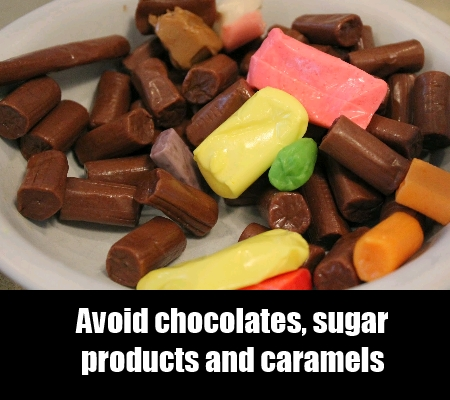 Avoid Chocolates And Candies