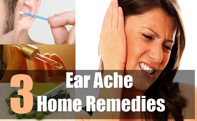 3 Ear Ache Home Remedies