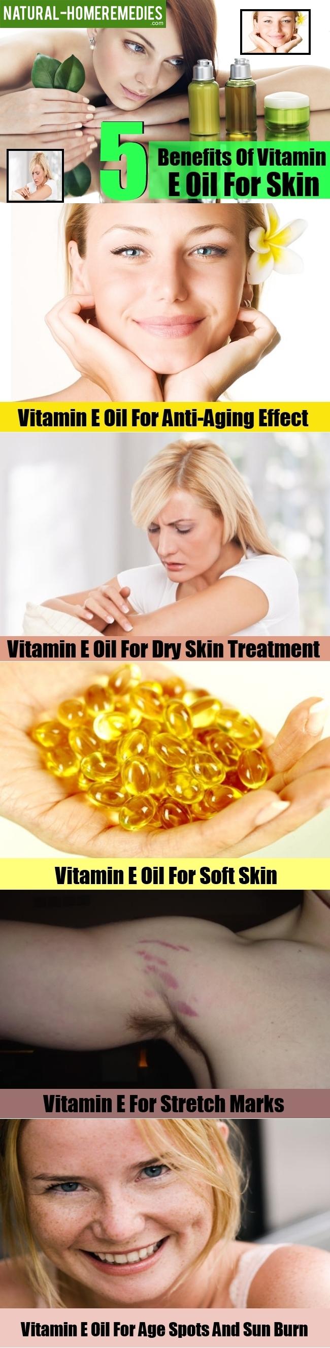 5 Benefits Of Vitamin E Oil For Skin