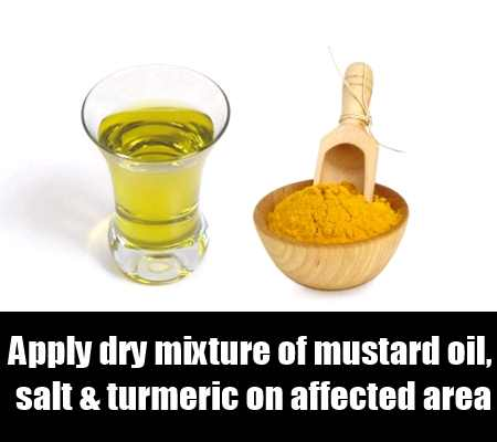 Dry Mixture Of Mustard Oil, Salt And Turmeric