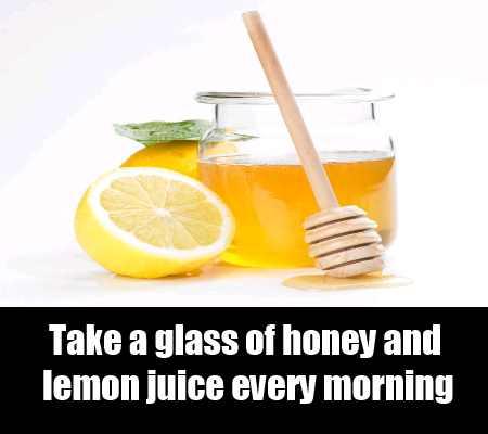 Glass Of Honey And Lemon Juice