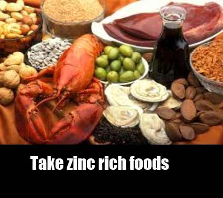 Increase Consumption Of Zinc Rich Foods