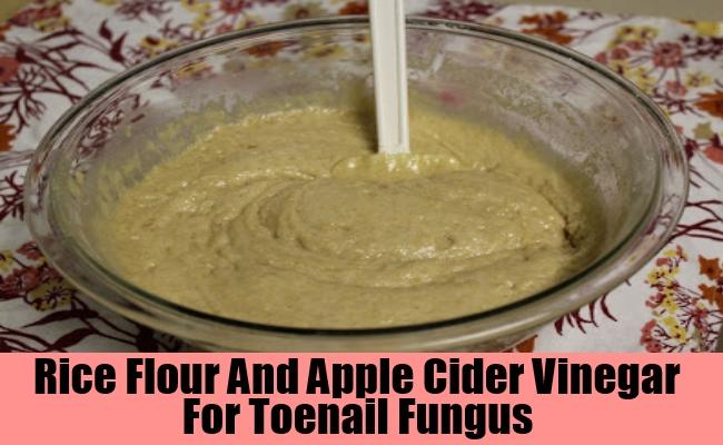 Rice Flour And Apple Cider Vinegar