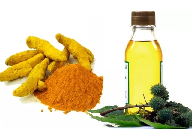 Amalgamated Paste of Turmeric Powder and Castor Oil