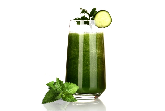 Coriander and Mint leaves Extract Juice