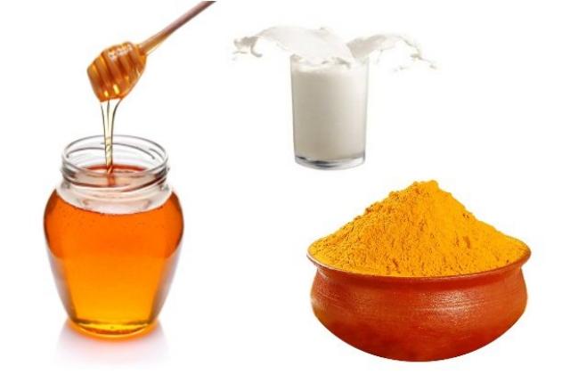 turmeric honey and milk mask