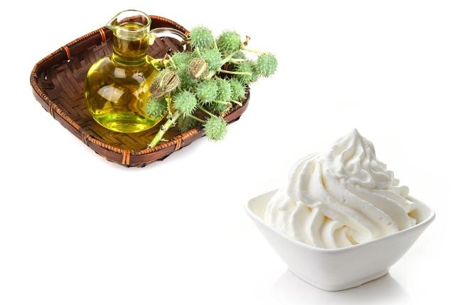 Cream And Castor Oil Mask