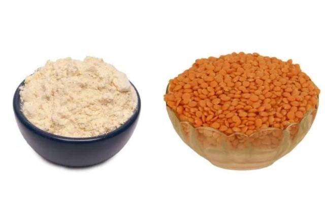 Gram Flour And Red Lentil