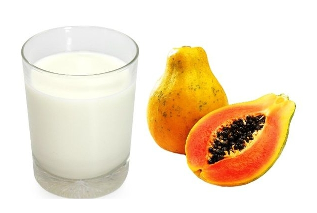 Raw Papaya And Milk