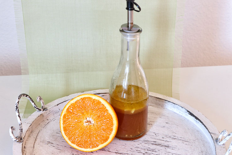 Kombucha Salad Dressing – a fruity and spicy dressing made of orange and kombucha - main picture