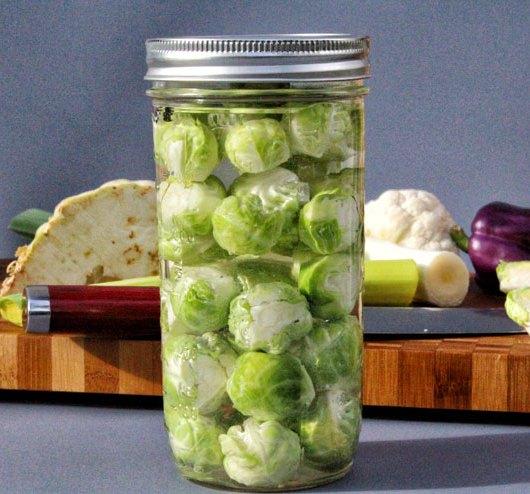 Fermentierter Rosenkohl – einfache Anleitung zum selber fermentieren- fermentierter Rosenkohl
