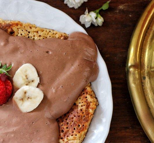 Kefir Schoko Pfannkuchen - ein süß sommerlicher Kefirtraum - kefir schoko Pfannkuchen