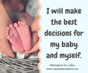 affirmations for labor make the best decisions
