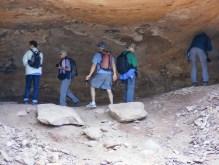 NABS members visiting 3 Caves rock art.