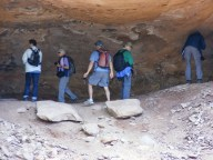NABS members visiting 3 Caves rock art.