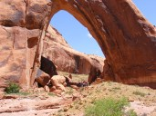 NABS members bagging Broken Bow Arch.