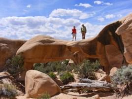 Peter J. and Doug B. on Mano Arch.