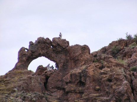 Black Glass Canyon Arch with NABS members