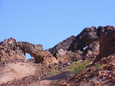 Hag's Tooth Arch (left) with Norm's Stargazer Arch (right)