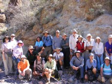 NABS group at base of Martinez Canyon Arch before ascent to the arch