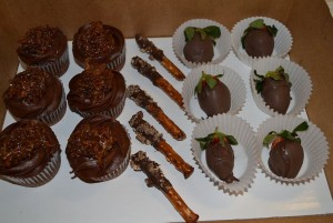 Snazzy Cakes, LLC German Chocolate Cupcakes & Chocolate Covered Strawberries